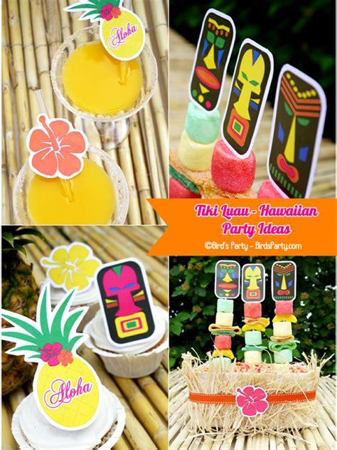 printable summer party decorations hawaiian tiki luau diy party ideas free printables