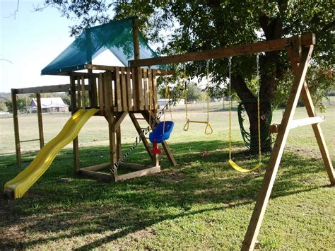 diy backyard swing set play fort swing set paper patterns build wood play ground