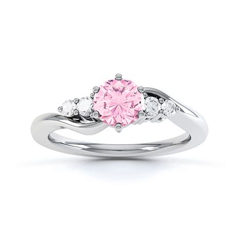 pink ring tickled pink sapphire engagement ring