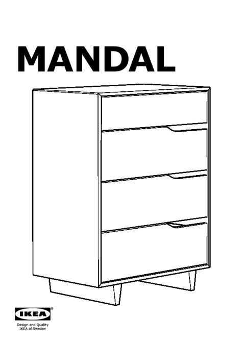 Commode 4 Tiroirs Ikea by Mandal Commode 4 Tiroirs Bouleau Blanc Ikea