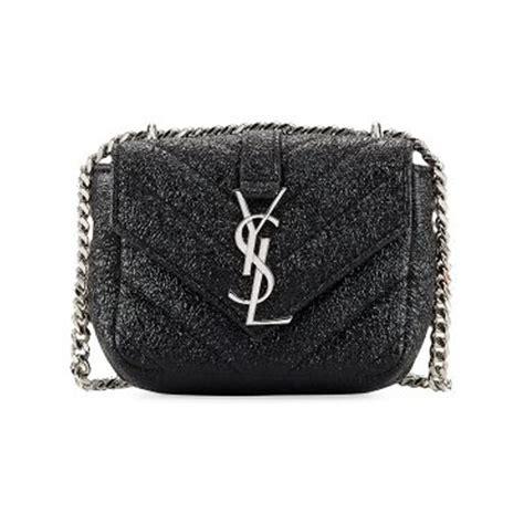 saint laurent black leather monogram micro quilted