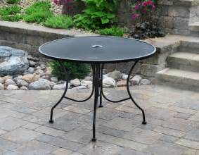 Menards Patio Table 42 Quot Wrought Iron Dining Table At Menards Patio