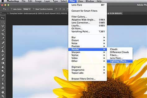 filter effects 4 lighting effects you can create in photoshop