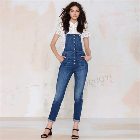 High Waisted Fashion by 2015 Womens Fall Fashion Denim Overalls High Waisted