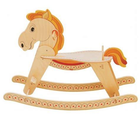 culle a dondolo per neonati in legno cavallo a dondolo per bambini in legno naturale di dida