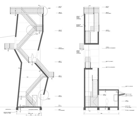 observation tower plans ateliereen architecten s concrete observation tower