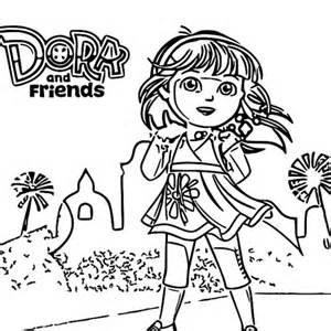dora the explorer coloring pages 6 dora and friends