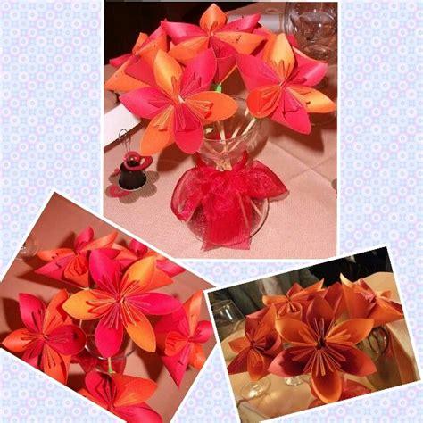 dei fiori centrotavola dettagli dei fiori origami realizzati come centrotavola