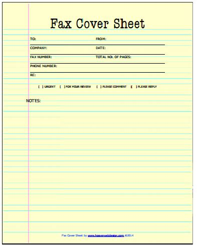 21 free fax cover sheet templates word excel formats