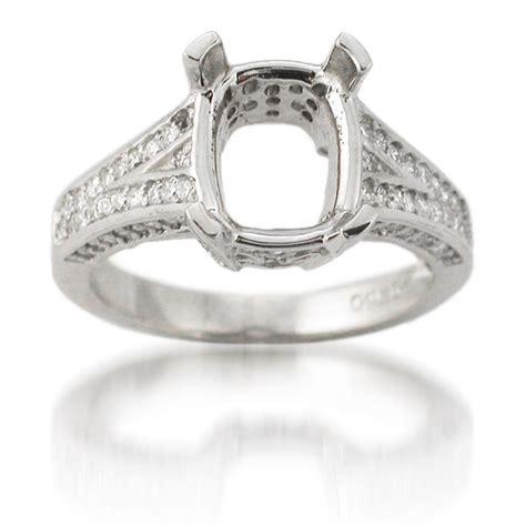 74ct antique style platinum engagement ring setting