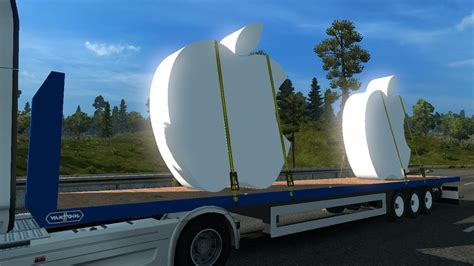 apple trailer trailer logo apple v1 0 ets2 euro truck simulator 2 mods