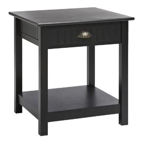 black end table with drawer black 1 drawer end table tree shops