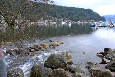 december in deep cove b c being tazim
