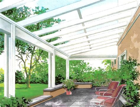 glass patio cover for the home