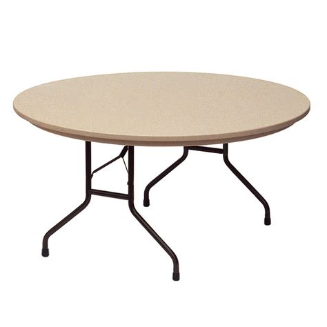 folding table correll rx60r 60 quot round brown plastic ter resistant