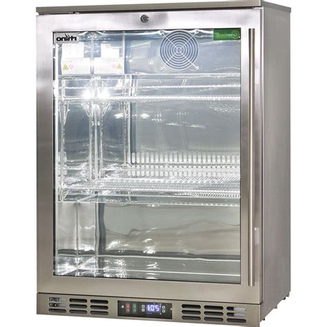 glass door stainless steel bar fridge heated glass 1 door commercial stainless steel bar fridge