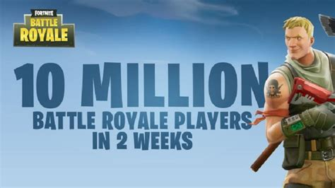 fortnite vs pubg player count ten million players leap into fortnite s battle royale