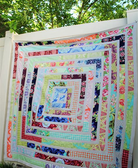 Jelly Rolls Quilt by Hideaway Scrappy Jelly Roll Quilt