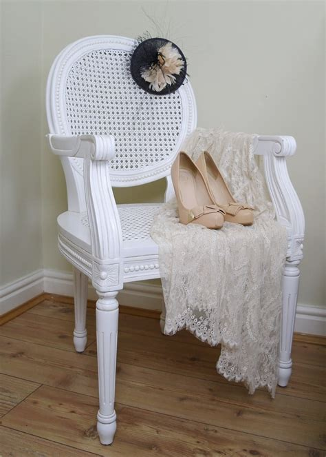french chateau white rattan dining bedroom arm chair