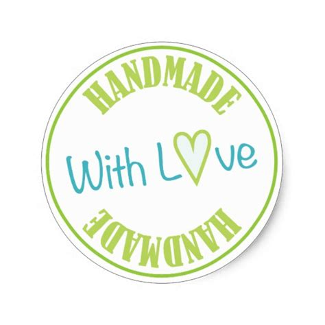 Handmade By Stickers - handmade with classic sticker zazzle