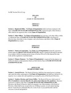 Corporate Bylaws Template by Corporate Bylaws Template Bestsellerbookdb