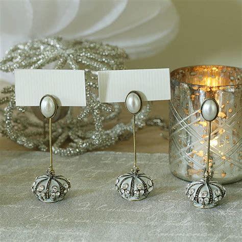 table place card holders wedding place card holder with diamante and pearl trim