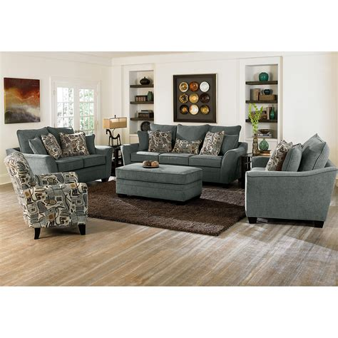 ottoman living room perfect chairs with ottomans for living room homesfeed