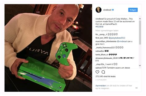 fast and furious xbox one vin diesel custom fast furious xbox one s auctioned for