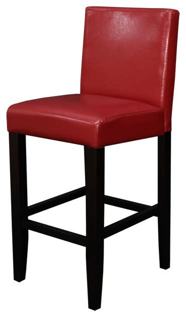 Blue Faux Leather Bar Stool by Villa Faux Leather Blue Counter Stool Set Of 2