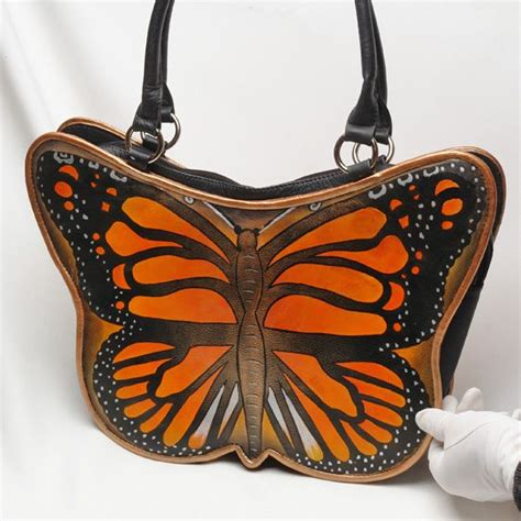 Butterfly Bag butterflies painted and handbags on