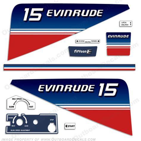 Yamaha 15 Ps Aufkleber by Evinrude 1980 15hp Decal Kit