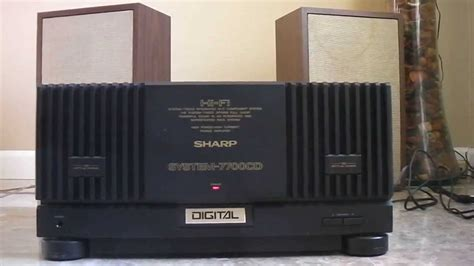 Tv Sharp Av Stereo sharp 7700 mk power lifier
