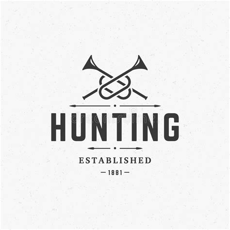 Hunting Club Vintage Logo Template Emblem Stock Vector Image 61709189 Nightclub Logo Template
