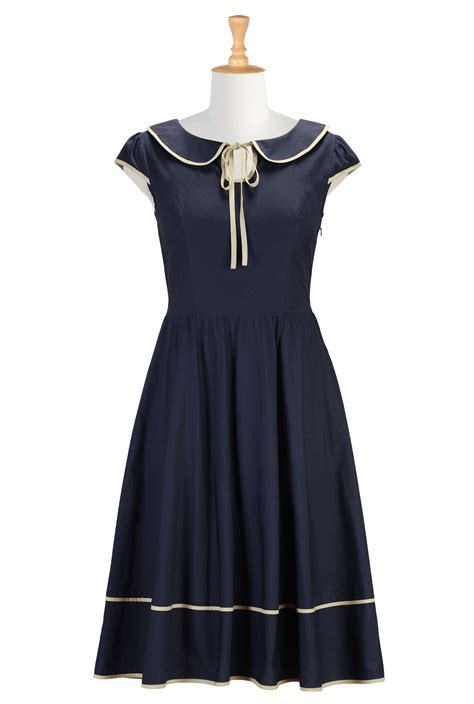design dress collars peter pan collar dresses cotton poplin dresses for fall