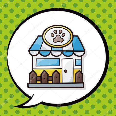 doodle pet shop pet store doodle speech stock vector