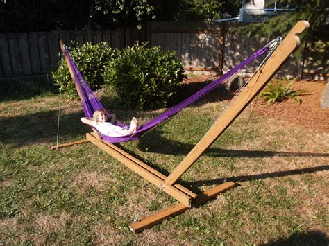backyard hammock stand stunning backyard with diy hammock chair stand and wood fence