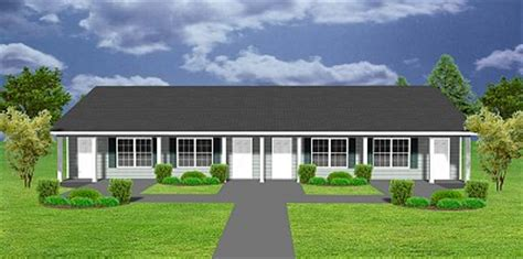 cost to build a 4 plex apartment plan j1103 11 4 4 plex plansource inc