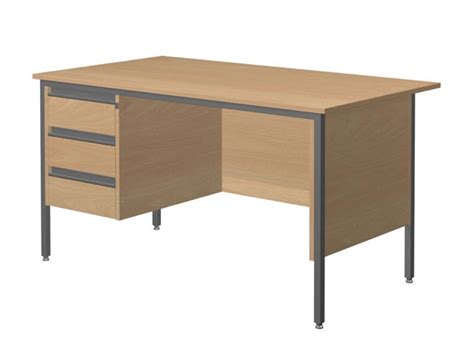 galaxy single pedestal office desk lh pedestal tables