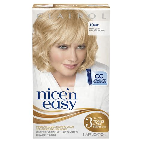 nice n easy permanent color ultra light natural blonde 87 amazon com clairol nice n easy 10 87 natural ultra
