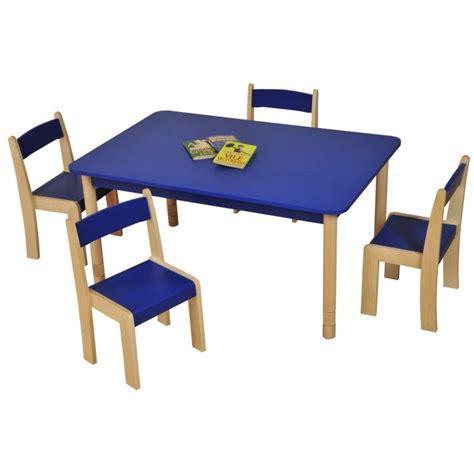 Height adjustable beechwood rectangle table blue classroom tables classroom school tables