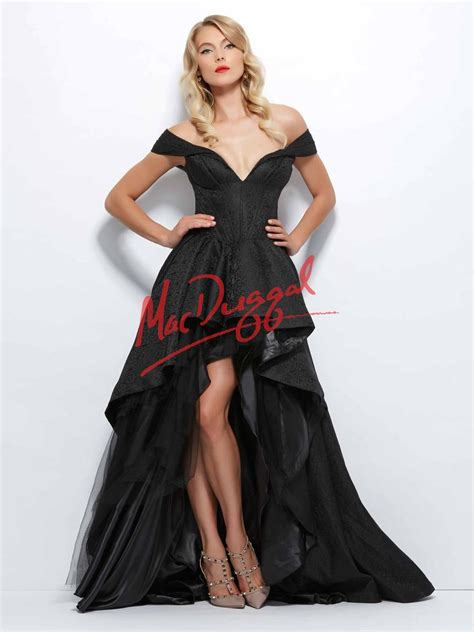Mac Formal Black Collection by Black White By Mac Duggal Dress 48134r Terry Costa