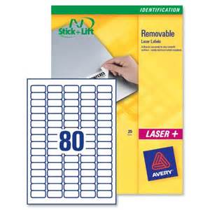 Label Template 80 Per Sheet by Avery Mini Labels Removable Laser 80 Per Sheet 35 6x16 9mm