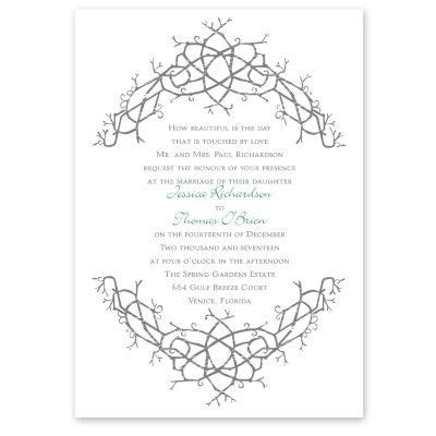nature's celtic knot wedding invitation   irish wedding