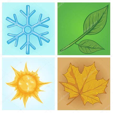 imagenes de invierno dibujos animados conjunto de iconos de dibujos animados estaciones
