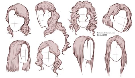 hair template hairstyles by sellenin on deviantart