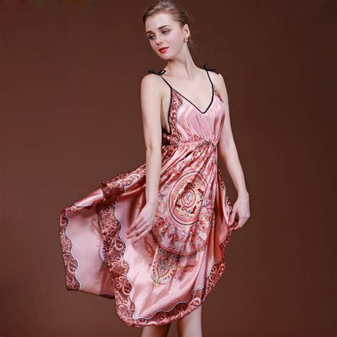 Satin Silk 10 sleep dress dress sleepwear gecelik nighties for faux silk satin