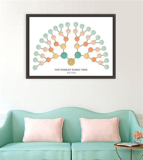 free printable tree wall art family history family tree fan chart genealogy reunion