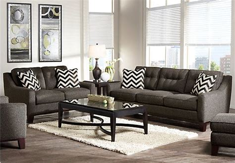hadley sofa rooms to go shop for a hadly gray 7pc living