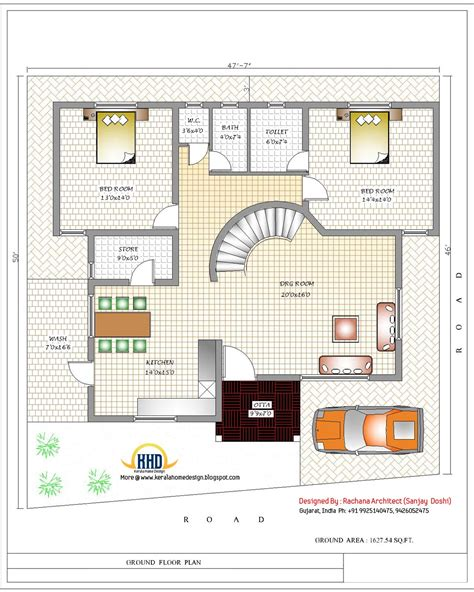 floor plan of house in india april 2012 kerala home design and floor plans