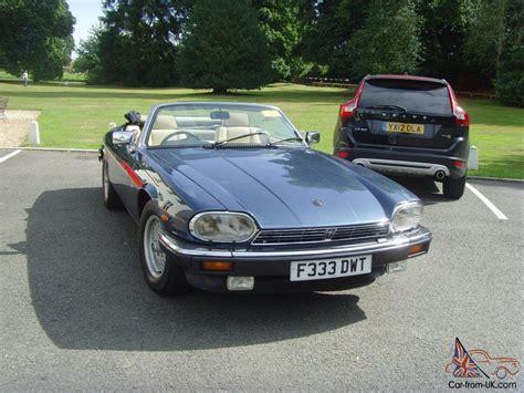1989 jaguar xj 1989 jaguar xj s convertible auto blue